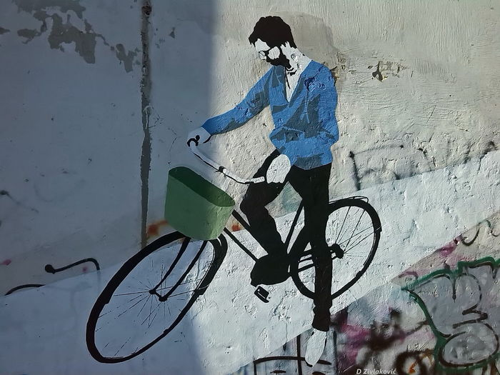 Writing On The Walls Bycicles Street Art Graffiti