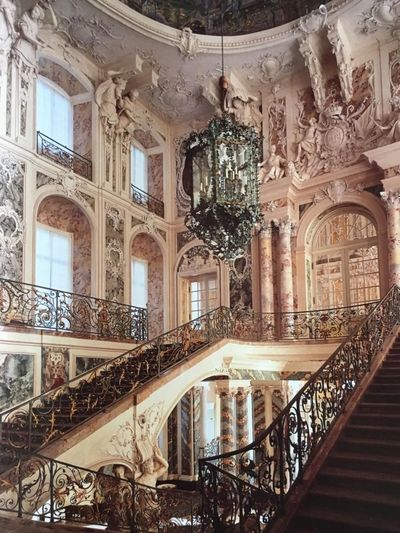 Design Architecture Stairs Upstairs Creativity Trustme Interior Arcade Historic Baroque Arch Flooring Low Angle View Built Structure History Tourism Steps Travel Architectural Column Balustrade