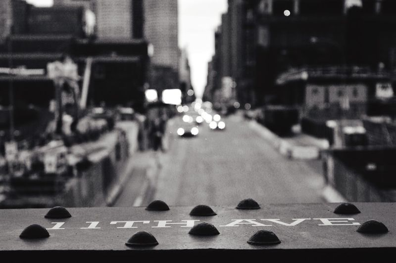 -11th Ave- NYC NYC Photography NYC Street NYC Street Photography City Street Bokeh High Line Park Black And White