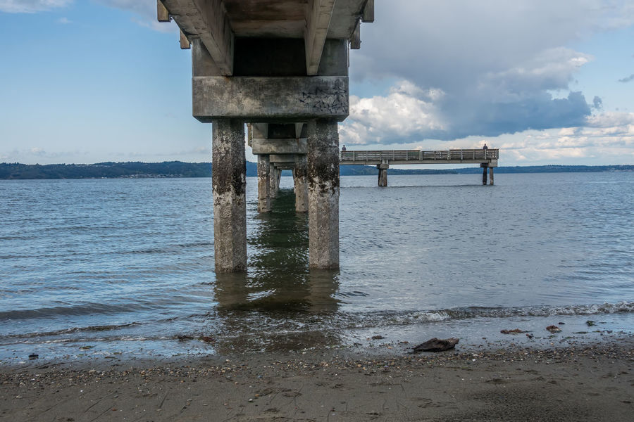 Under the pier at Dash Point, Washington. Pacific Northwest  Architecture Beauty In Nature Built Structure Cloud - Sky Dash Point Day Nature No People Outdoors Pier Scenics Sea Sky Tranquility Underneath Water