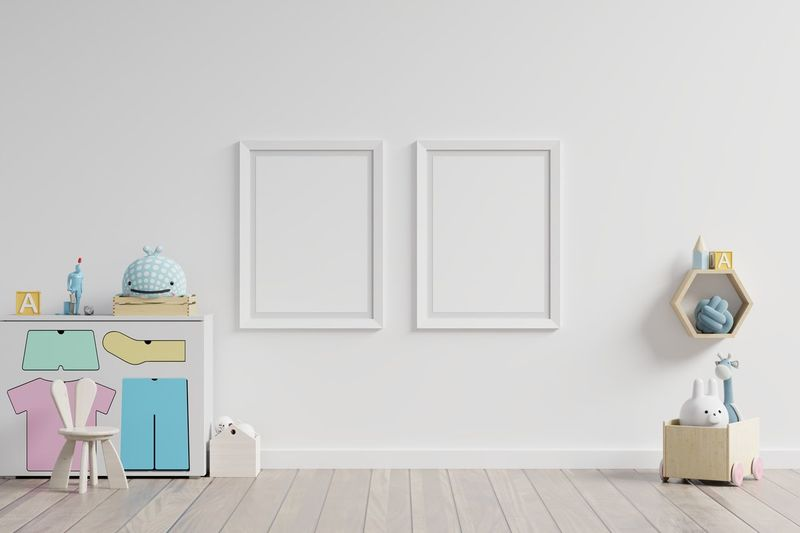 Picture frames hanging on wall at home