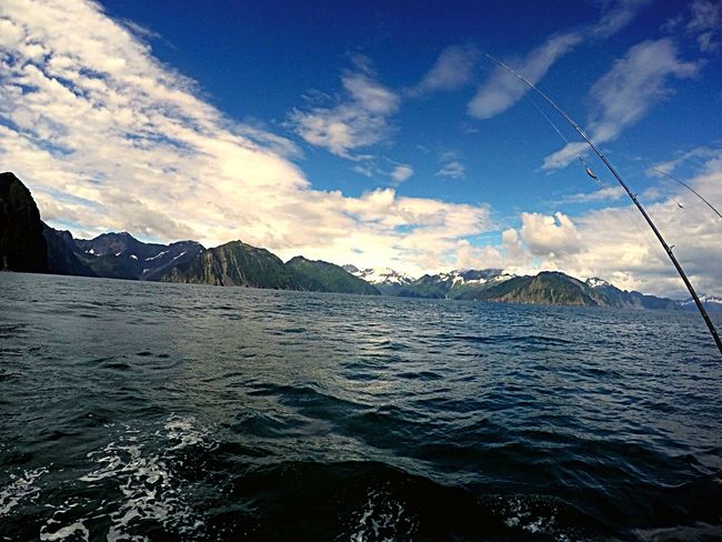 Fishing Alaska Alaska View Alaska Fishing Nature Fishing Pole Ocean Fishing Mountain Blue Sky Blue Wave Out Fishing Charter Fishing Love The Life You Live Fish On EyeEmNewHere