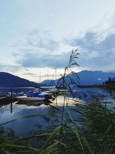 Outdoors Sandy Beach Boat Boats And Water No People, Taking Photos Check This Out Samsungphotography Beauty In Nature Samsung Galaxy S7 No People First Eyeem Photo Oudoors Italy❤️ Italy Comer See Italy🇮🇹 Rainy Days Comersee First Eyem Photo Beachphotography