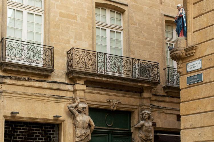 Building exterior at Place Richelme, Aix-en-Provence