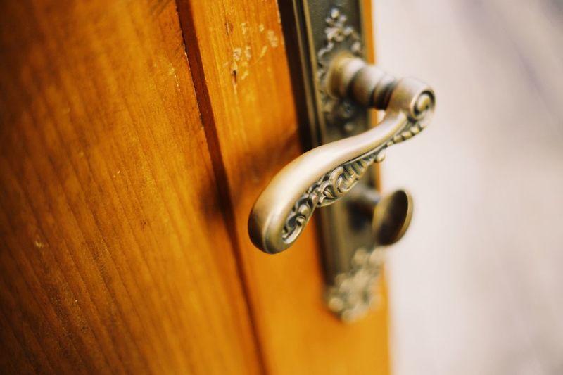 Close-Up Of Door Handle