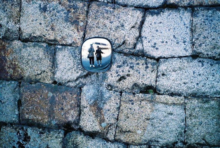 Reflection of us Streetphotography 35mm Film Kodak Portra Contax T3 Japan Kurashiki Travel Photography Reflection Mirrorselfie Taking Photos Cheese!