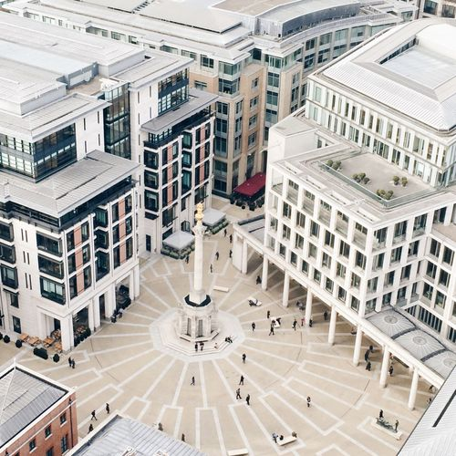 High Angle View Of Paternoster Square