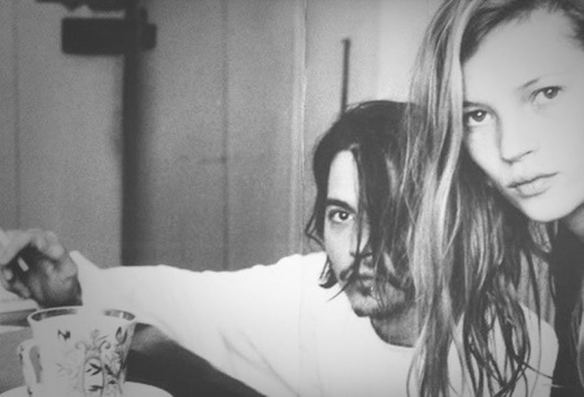 Johnny Depp Kate Moss Oldpicture