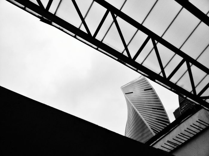 Moscow Blackandwhite Bnw Building The Architect - 2018 EyeEm Awards City Girder Skyscraper Modern Spiral Staircase Steel Sky Architecture Building Exterior Built Structure
