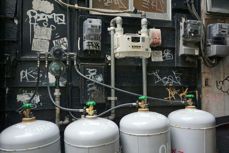 Fukuoka,Japan Gas Cylinder Gas Meter Plumbing Streetphotography Wall Taking Photo Backstreet Looking At Camera Ilovephotography