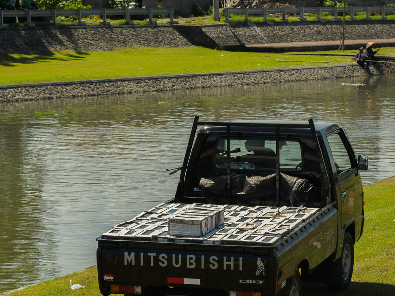 Why not? Day Fishing Fishing With A Gun INDONESIA Man Man Versus Nature No Fishing Outdoors River The Street Photographer - 2017 EyeEm Awards Truck