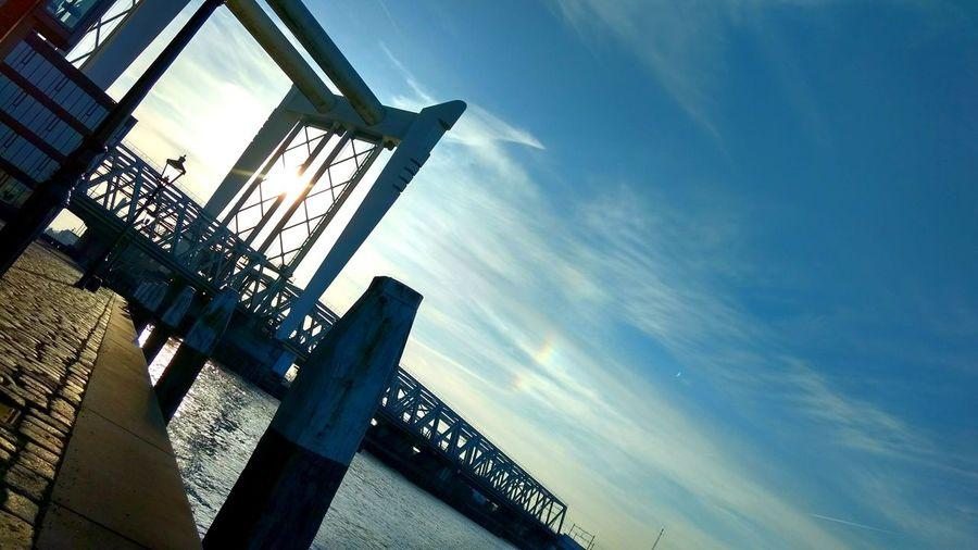 Sky Low Angle View Netherlands Dordrecht Zwijdrechtse Brug Bridge Adventures In The City
