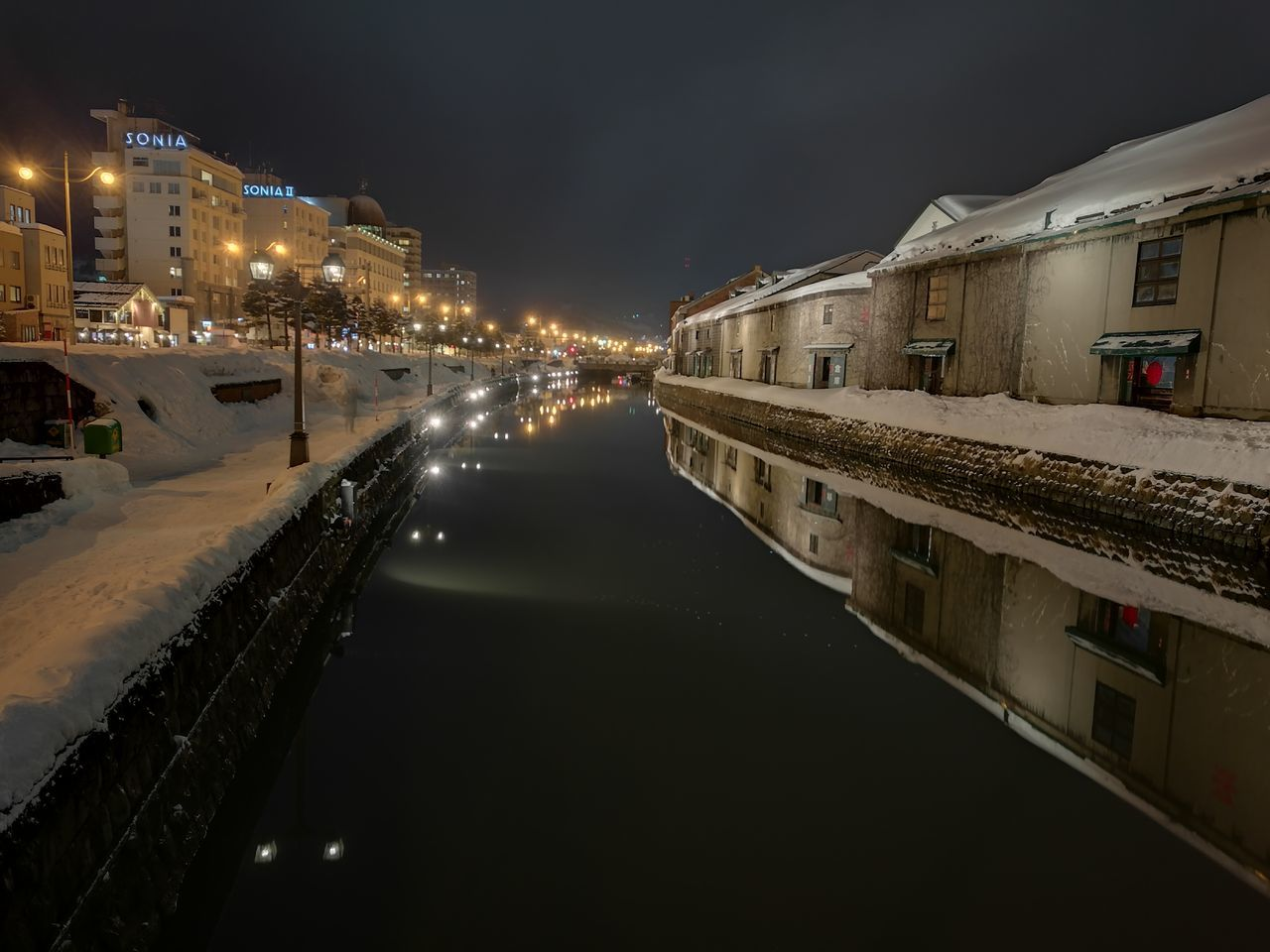 architecture, building exterior, built structure, night, illuminated, residential building, transportation, sky, house, outdoors, no people, water, winter, city, cold temperature, nature, nautical vessel