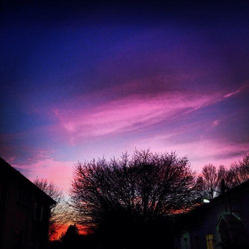 Clouds And Sky Sunset Lila Wolken. EyeEm Best Shots