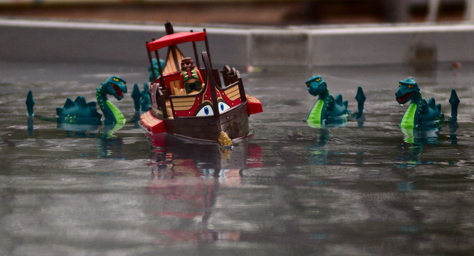 Nessie Attack Attack Boat Dragon Nessie Playmobil Playmobil Funpark Ship