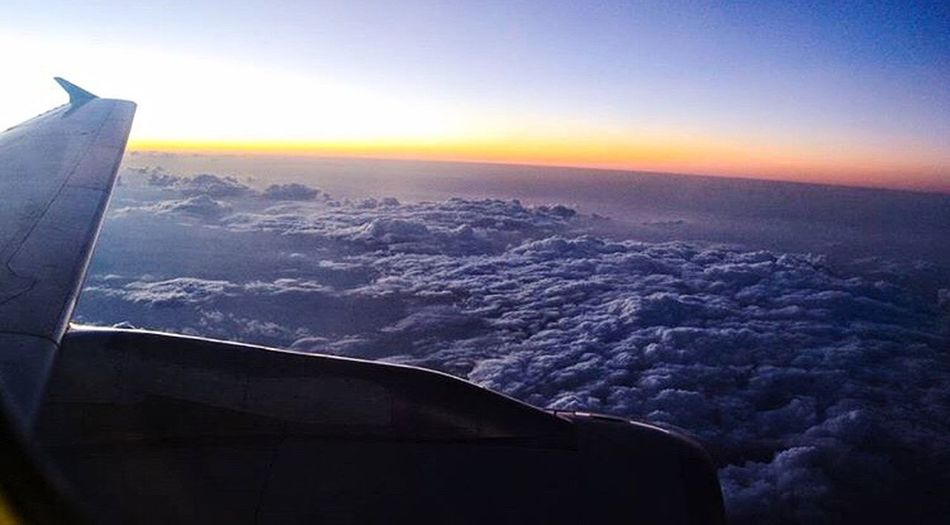 Sunset Airplane Aerial View Nature Air Vehicle Sky Beauty In Nature Scenics No People Travel Transportation Cloud - Sky Outdoors Travel Destinations Landscape Mountain One of my favorites ❤️