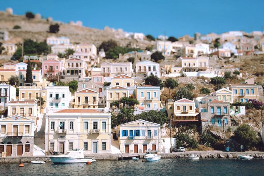 ...and the livin is easy. Colors Film Photography Greece Symi ısland House Decor Inspirational Traditional White Sea