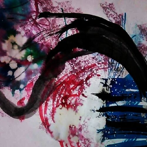 So yeah, more sniglets of my art project~ Art Artproject Aerieart Abstract bleach sumibrush watercolor indiaink shniglet
