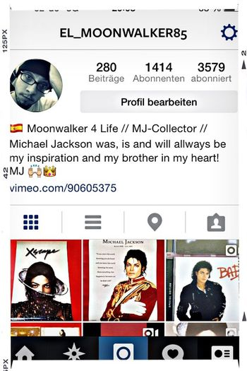 To every member of the MJFam go add me on instagram @ el_moonwalker85 Michael Jackson Thekingofpop Applehead Xscape