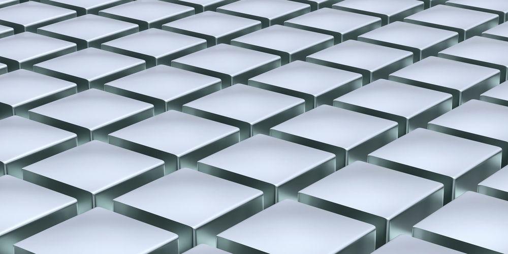 Full Frame Shot Of Abstract Image Of Gray Blocks