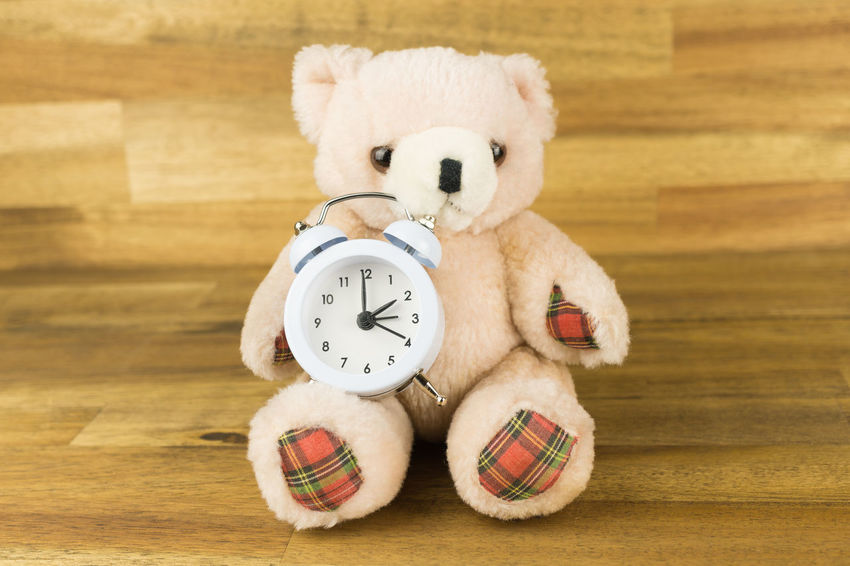 AlarmClock Teddy Alarm Clock Childhood Clock Clock Face Close-up Day Daylight Savings Eastern Daylight Time Full Length Indoors  No People Standard Time Stuffed Toy Teddy Bear Time Winter Time Wooden Background