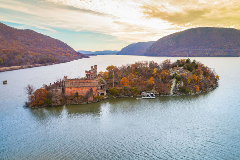 Autumn Drone  New York Architecture Beauty In Nature Building Exterior Built Structure Day Landscape Mountain Mountain Range Nature No People Outdoors Range River Scenics Sky Sunset Tranquil Scene Tranquility Travel Destinations Tree Water Waterfront