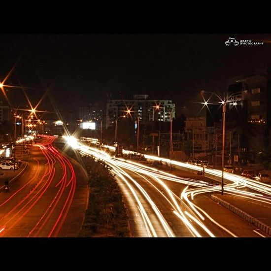 Parth Thakkar Photography Light -trail Photography Fastestgrowingcityinthe India Lightupnight Nightviewofthe Suratcity Sundaytime Nightphotography Photooftheday Like4like Follow4follow