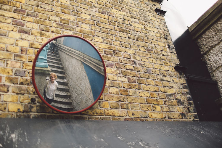 Arch Architecture Brick Wall Building Exterior Built Structure Girl Mirror No People Outdoors Reflection Stairs Tower Bridge  Wall - Building Feature People And Places London Lifestyle EyeEm LOST IN London Connected By Travel