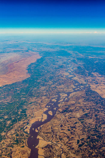From Above  Aerial Aerial Photography Aerial View Airplane Beauty In Nature Dramatic Landscape Environment From An Airplane Window Horizon Landscape Nature No People Outdoors River Semi-arid