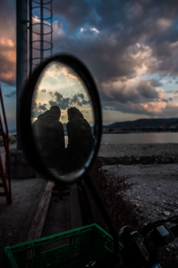 Mirror. Couple Love Mirror Cloud - Sky Couple - Relationship Lifestyles Mirrorreflection Outdoors Real People Reflection Sunset Two Two People 10