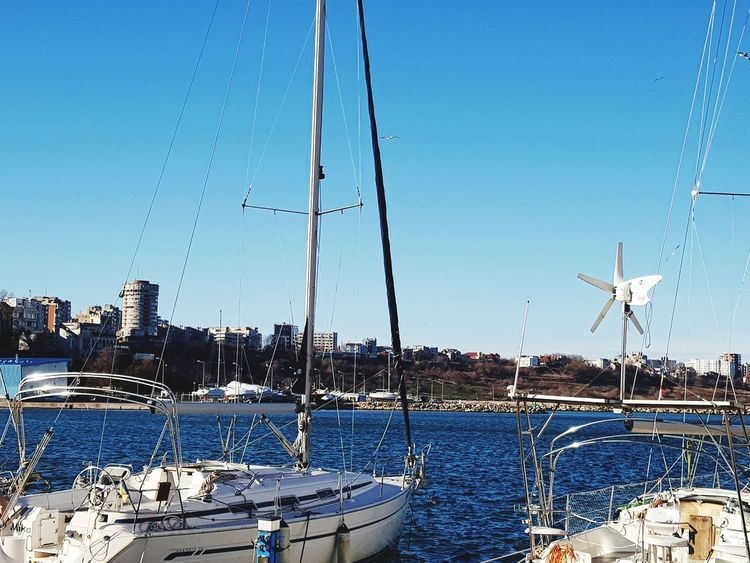 Boats marine Water Nautical Vessel Sky Sea Outdoors Sailboat Day Blue No People Harbor Transportation Yacht City Yachting
