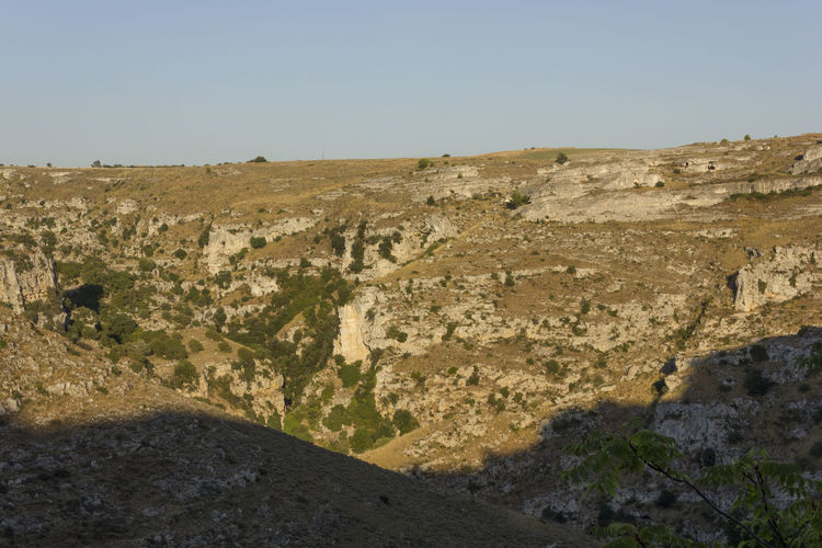 Matera Italy Unesco UNESCO World Heritage Site Murgia Outdoors Environment Sky Landscape Scenics - Nature Nature Land Tranquil Scene Day No People Tranquility Rock Clear Sky Non-urban Scene Mountain Beauty In Nature Rock - Object Solid Copy Space Horizon Over Land Climate Arid Climate