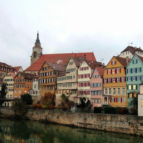 Tübingen Neckar Wordfull River hause