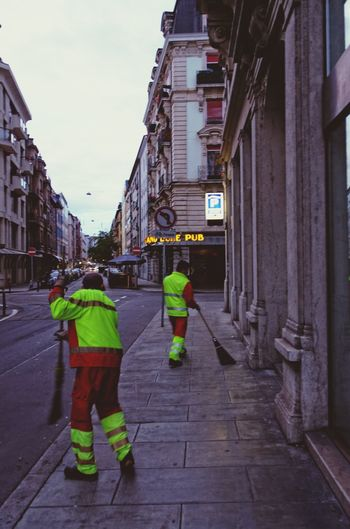 Street Cleaners in Geneva, Pâquis - i believe these people are Heros.
