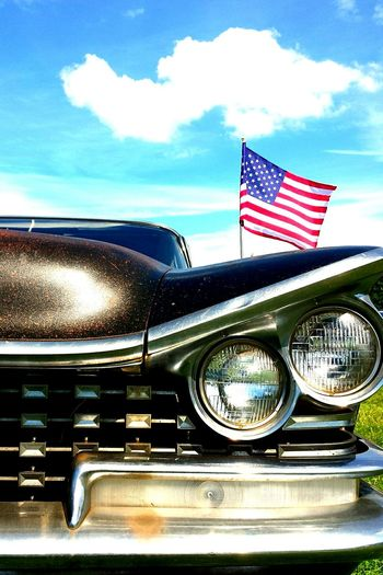 The OO Mission The 00 Mission Headlight Classic Car American Classic Car American Flag Car With Curves
