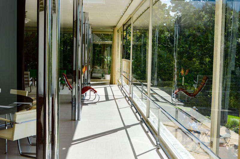 Vila Tugendhat House Architecture Architectural Feature Architecturelovers Built Structure Glass - Material Glass Reflection Living Room Lifestyles Interior Interior Views Interior Style Interior Design The Week On EyeEm Light And Shadow Sunlight in Brno, Czech republic The Creative - 2018 EyeEm Awards Creative Space