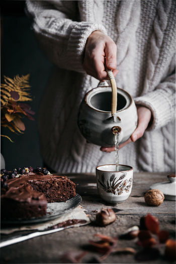 Food And Drink Drink Food Refreshment Tea - Hot Drink Foodstyling Foodphotography Foodie Mood Captures Moody Atmosphere Tea Kettle Tea Making Tea Lover Tea Cottage Life Autumn Mood