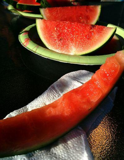 Watermelon Fruit Enjoying Summer Om Nom Nom Yummy Pastel Power