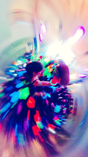 Dance with colors Parly2 Ricoh Theta360 Girl Party Dance Fluorescent Light Multi Colored Abstract Full Frame Paint Backgrounds Vibrant Color Art And Craft Creativity Motion Bright Modern Textured  Paint