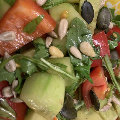 Full frame shot of chopped salad