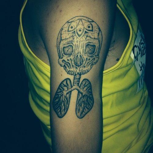 My new Tattoo DrJekyllandMrhyde Doublelungtransplant CF cysticfibrosis livelong lovelife livingwithcf ✌️