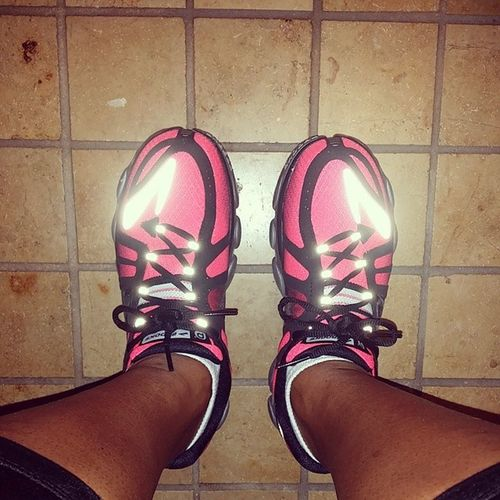 Breaking in my new running sneaks? love Brooks! ! ThanksAFI Nomyanklesarentswollen Wearingallthebrightcolors Run Brooks LTF