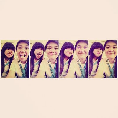 Bestfriends don't judge each other. They judge other people together. Yep, that's us. @renzellyna