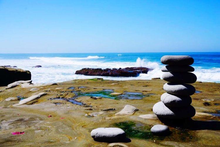 Balance. Ocean Rocks Rocks And Water Waves La Jolla, California California Balance