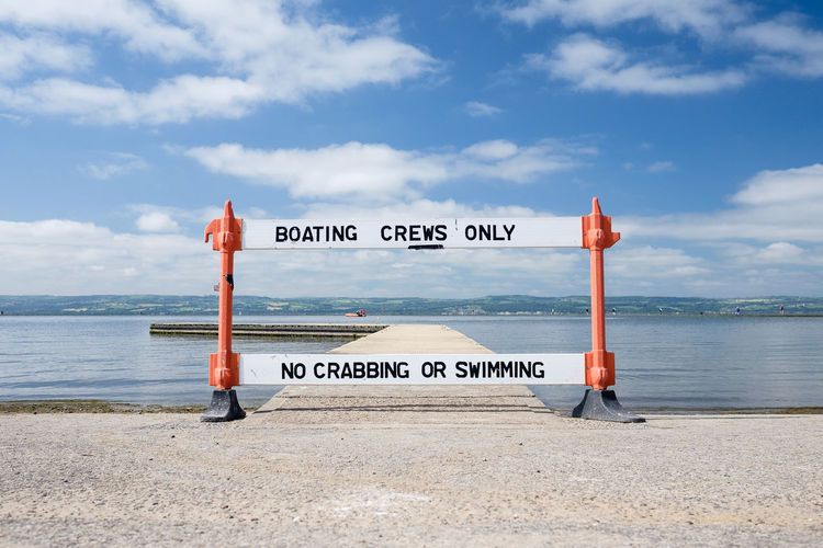 Warning sign at beach