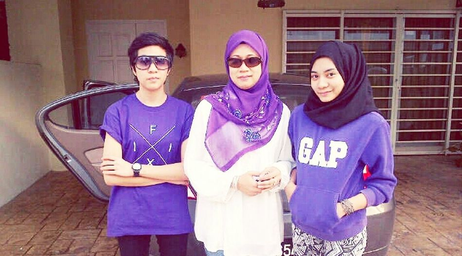 Purple Went Out With Beautiful Mummy <3 Me And My Sister Outfit #OOTD