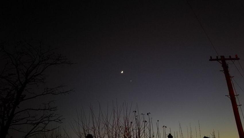 Moon Night Astronomy No People Star - Space Venus