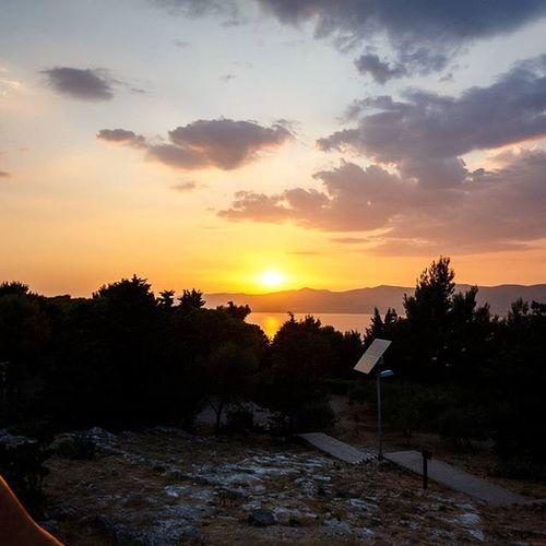 Croatia's sunsets almost never disappoint. Ventoura Split Croatia Europe sunset Marjan lovecroatia discovercroatia suchaclimb SunsetsWithLashan