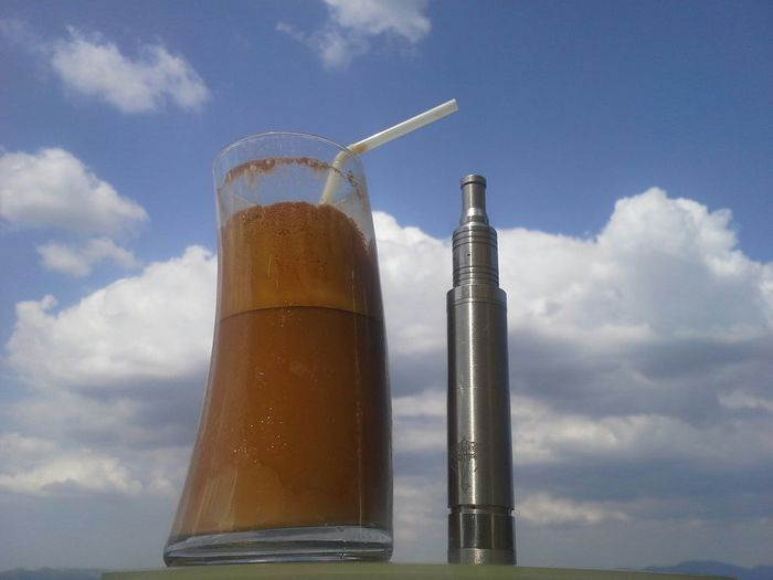 Coffee And Vape Coffee Relaxing VapeLife Dripper Nemesis Rda Vapeporn Sky And Clouds Atomizer The Essence Of Summer