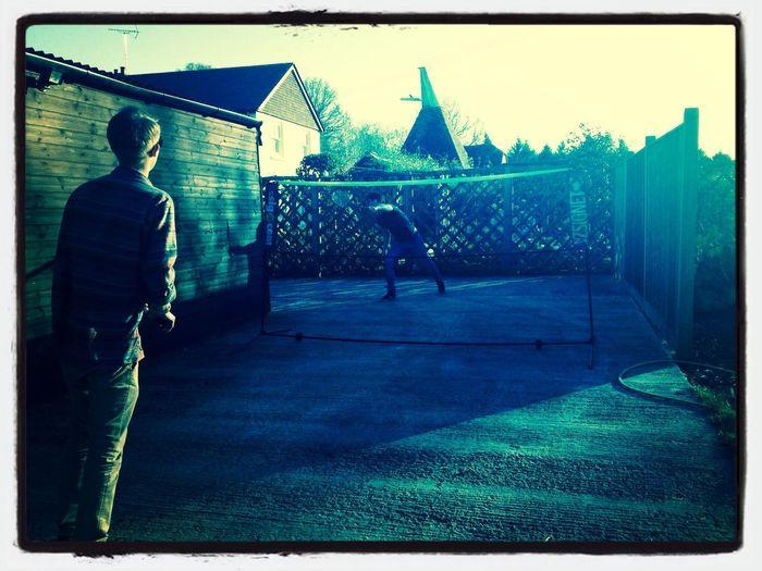 Drunk Enjoying The Sun Badminton MyBoys